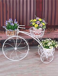bicicletta portapiante, portavasi decorativa - in legno di quercia ... - Portavasi In Ferro Per Balconi