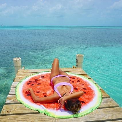 Toalla redonda de playa perfecta para mujer, hombre y niño