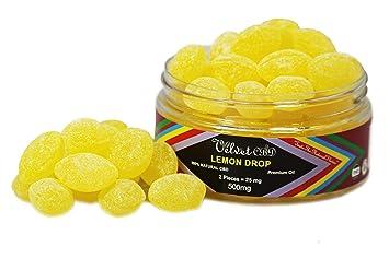 Amazon com : Premium Hemp Lemon Drop Hard Candy - 500 mg