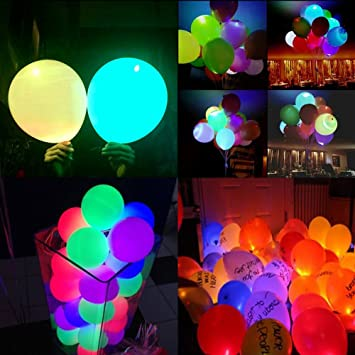 Amazoncom Led Light up Balloons Glow Balloon with 1 PCS Ribbon for