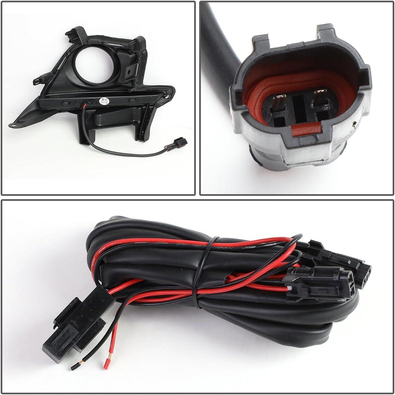 DNA Motoring FL-ZTL-246-CH Pair Fog Light Bezel Cover w//LED DRL For 14-16 Highlander