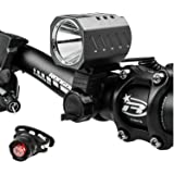 Leynatic LED Bike Lights, Powerful Bicycle Front Light Set Cycling Torch Flashlight Quick Release with USB Rechargeable Battery Pack