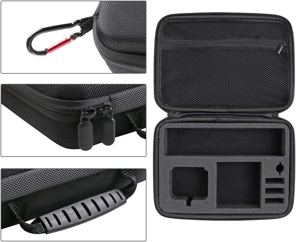 Small Carrying Case Protective Storage Bag Compatible with GoPro Hero 7// Small //6//5 Black,Session 5//4,Hero 3+,DJI Action Camera and More- Perfect for Travel and Storage 2018