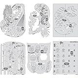 KANJI MASTER MINI SET Iwata Artool Airbrush Stencils