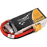 Tattu LiPo Battery Pack 1300mAh 75C 4S 14.8V with XT60 Plug for RC Boat Heli Airplane UAV Drone FPV