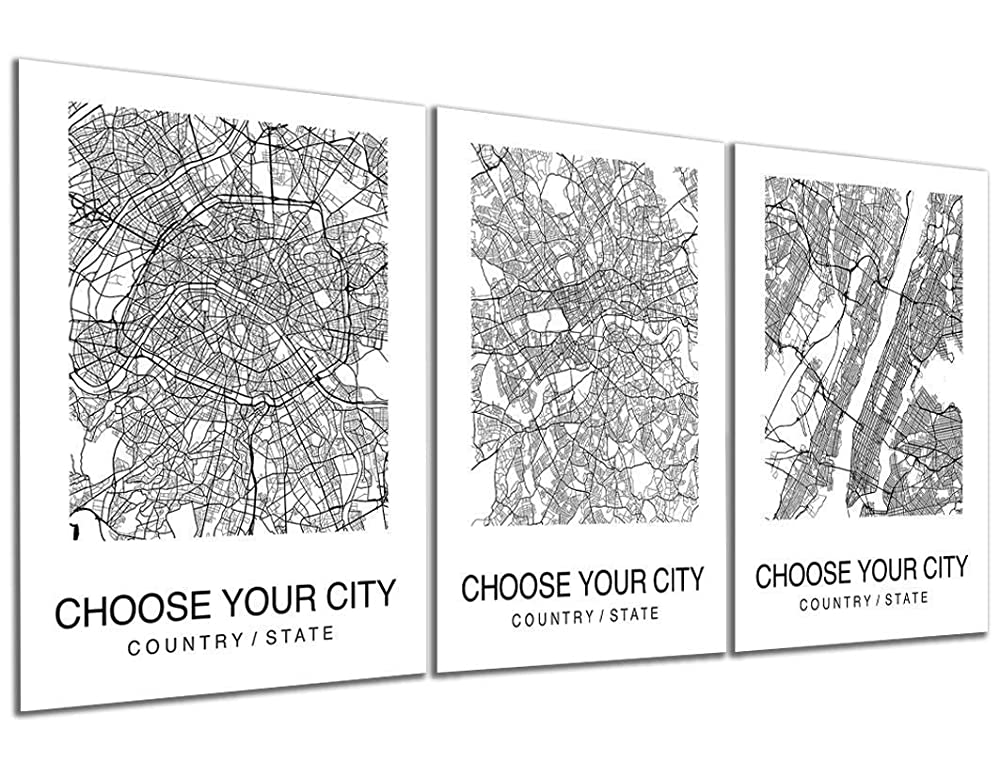Bridal Gift Map Print Black and White World Map Modesto Map Art Custom Office Hometown Modern Personalized California