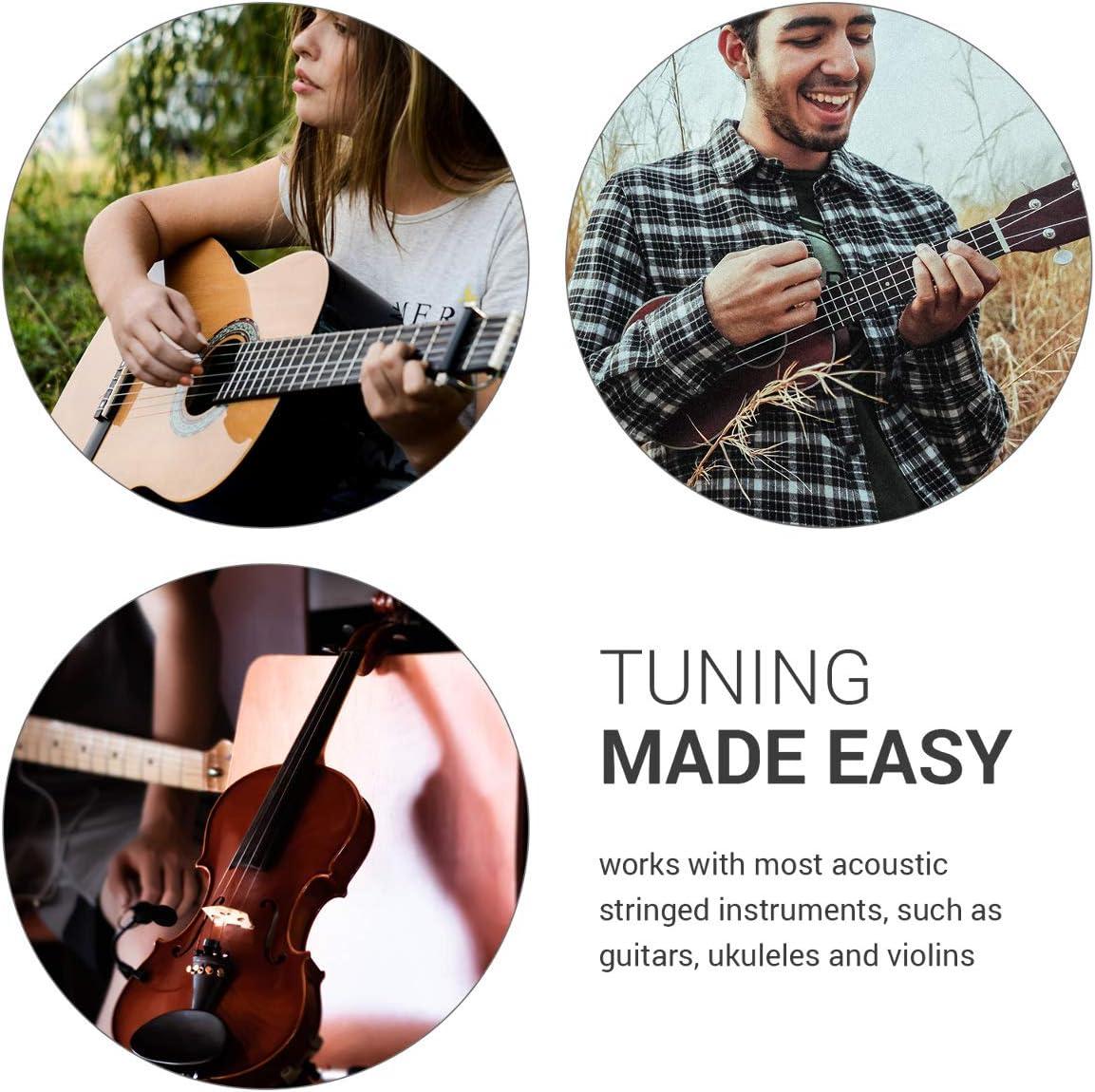 kwmobile Afinador de guitarra de pinza - Afinador digital con ...