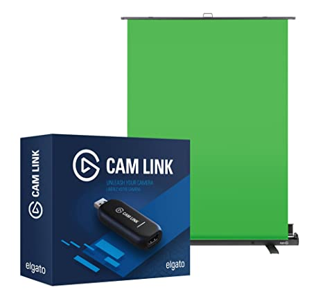 Pro Chroma Key Bundle: Elgato Green Screen and Elgato Cam Link