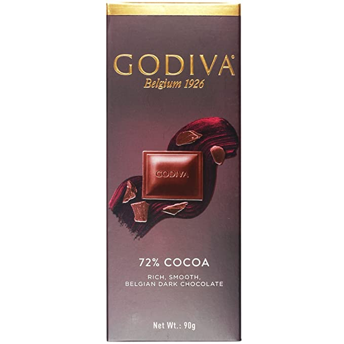 Godiva 72 % Cocoa Rich, Chocolate Belga Bello Suave, 90g