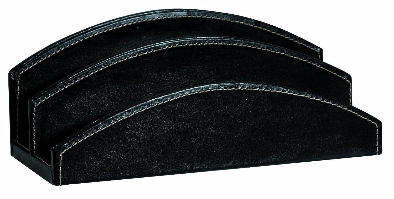 Sign Office Elyane-Set da scrivania, 260 x 115 x 110 mm, in simil pelle, con cucitura a sellaio, colore: nero CARPENTRAS SIGN 17840NO