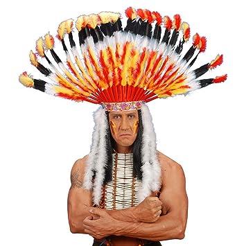 Chef de tribu indien bijou coiffe chapeau à plume coiffe d\u0027indien Mardi  Gras carnaval
