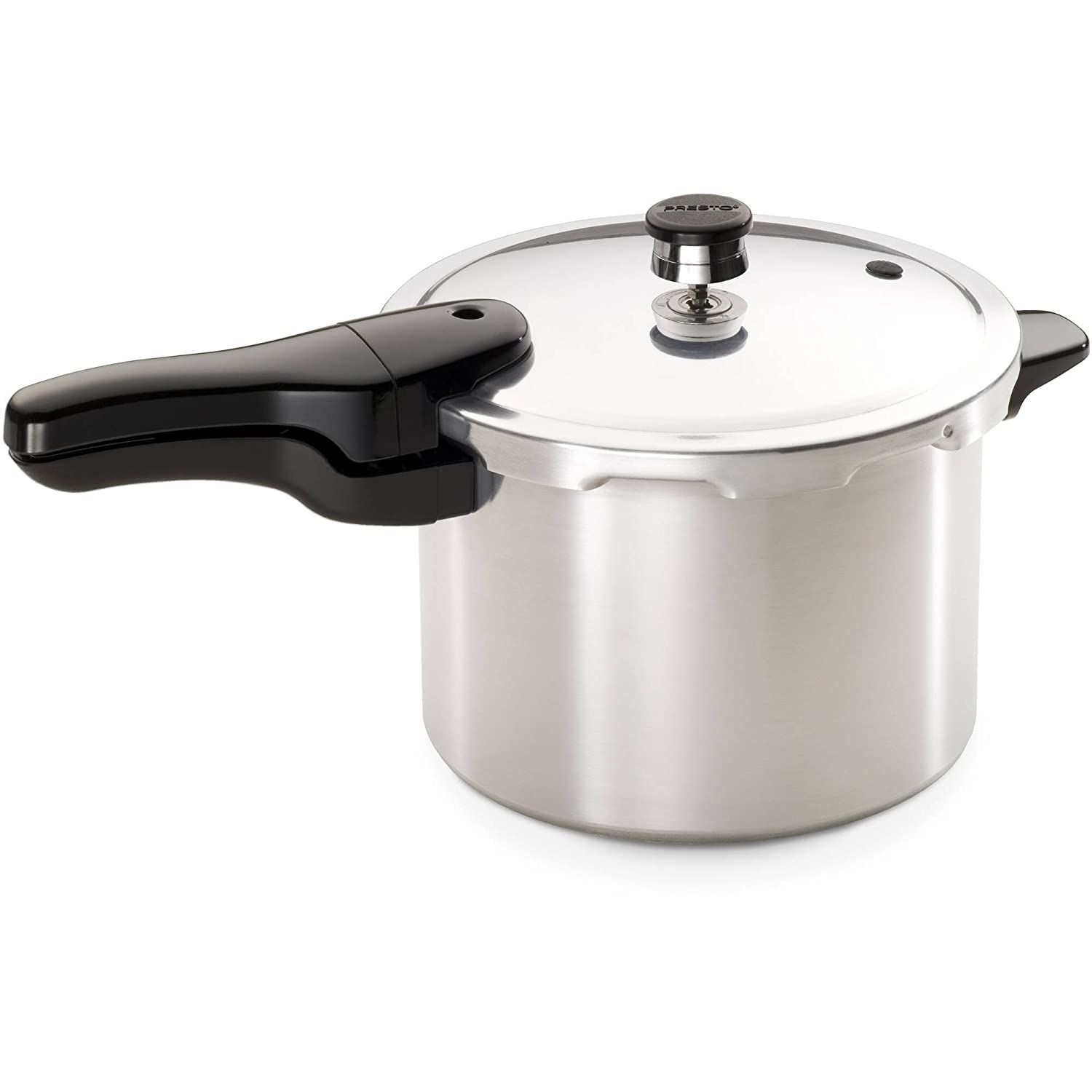 Presto Pressure Cooker 6-Quart Heavy-Gauge Aluminum with Helper Handle and Recipe Book Included