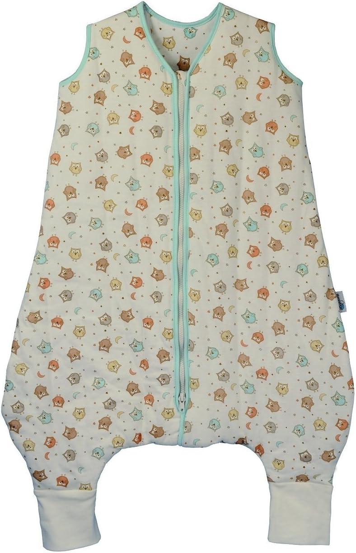 Slumbersac Summer Sleeping Bag with Feet 1.0 Tog Simply Owl 3-4 Years