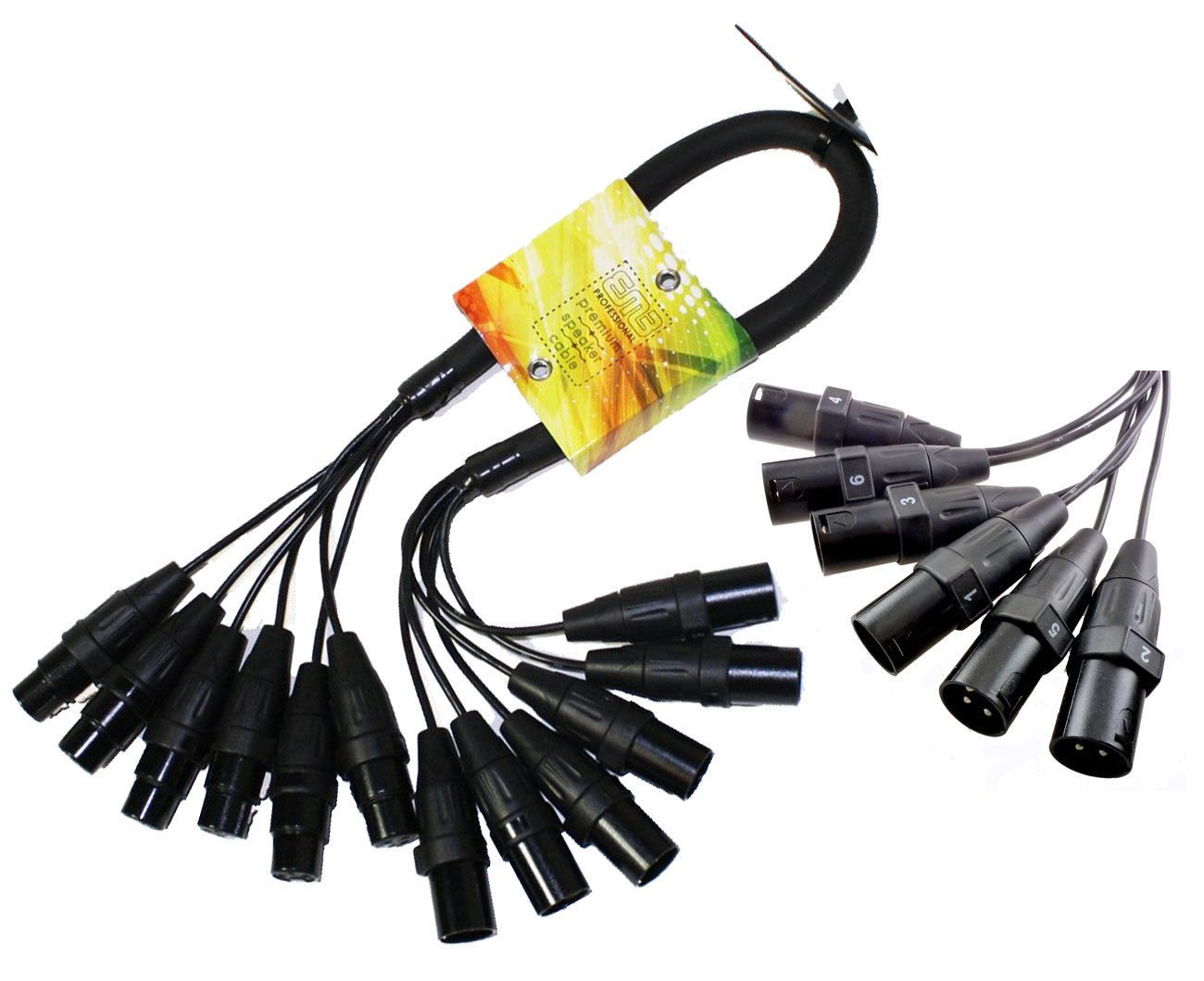 6 Channel XLR Snake Cable 2Foot PA Pro Audio Patch Stage Cord Mixer EMB USA Ship