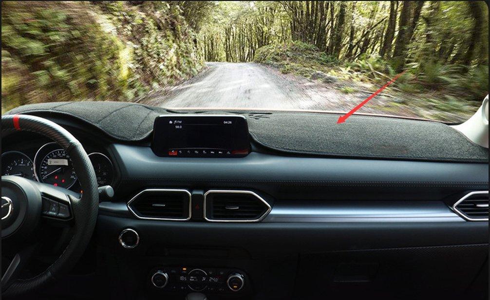 Salusy Black Dashboard Dash Protector Dash Mat Sun Cover Pad For Mazda CX-5 2017 2018