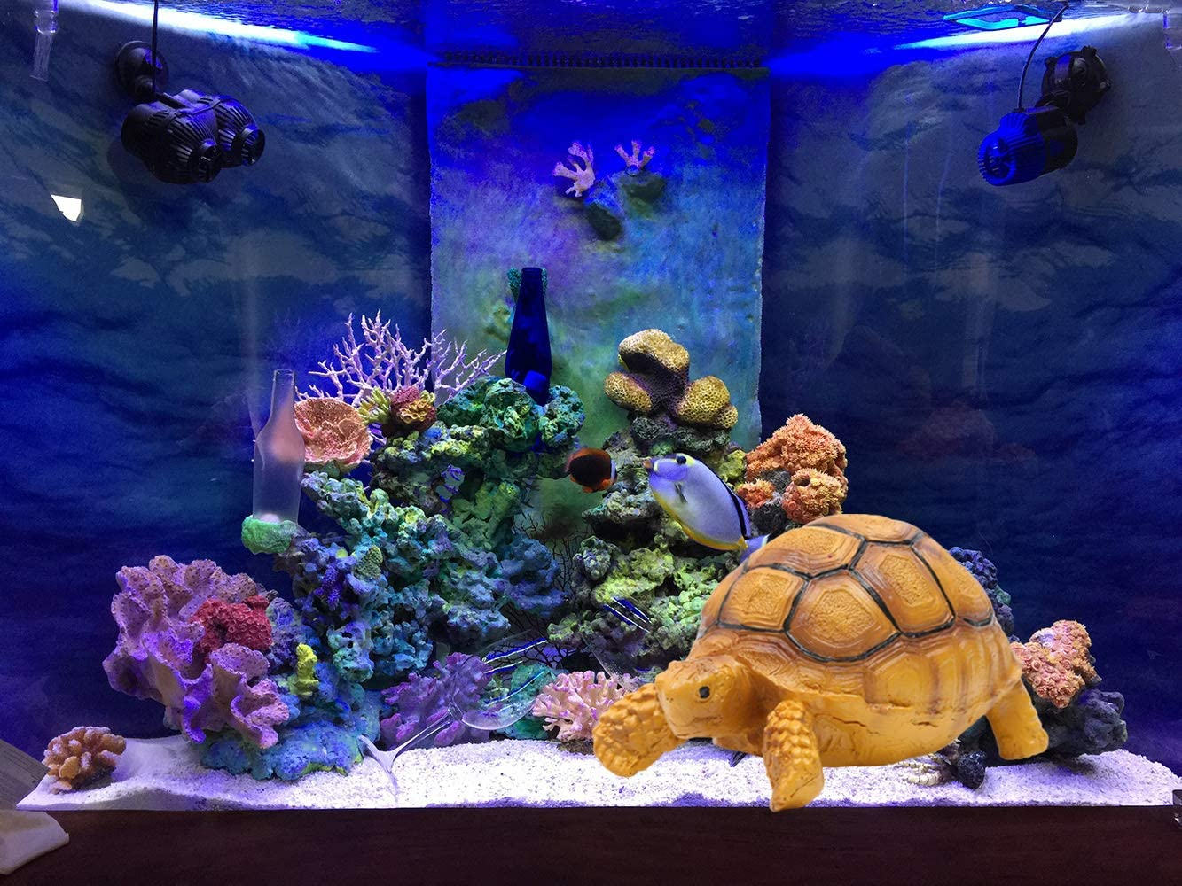 Generic Brands Fish Tank Aquarium Ornament Resin Tortoise Landscape Reptile Refuge House Small Pet Hidden Room Decoration