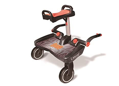 Lascal Buggy Board Maxi + Black/Red - Plataforma para carrito
