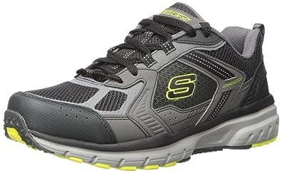 Skechers Sport Mens Geo Trek Pro Force Oxford Sneaker,Charcoal/Lime,7.5 M
