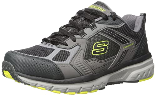 Skechers Sport Mens Geo Trek Pro Force Oxford Sneaker,Charcoal/Lime,7.5 M