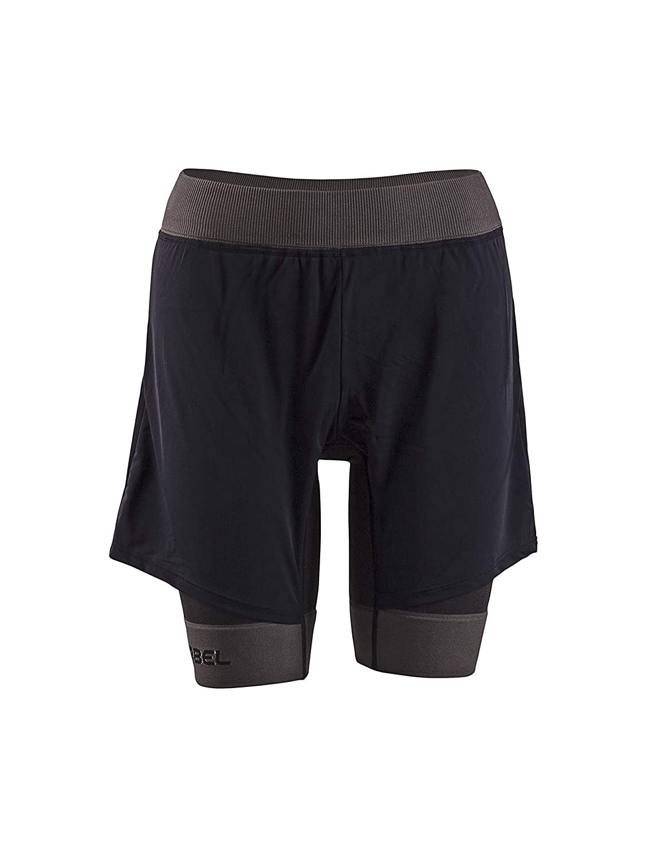 Lurbel Chie 2in1 Laufhose/Lauftight für Damen kurz, antibakterielle und schnelltrocknende Sporthose mit Taschen