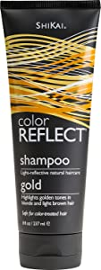 Shikai Color Reflect Gold Shampoo, 8-Ounce Tubes (Pack of 3)
