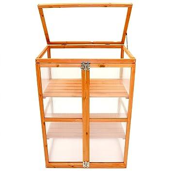 Oypla de madera Armario 2 del marco del estante al aire frío Grow ...