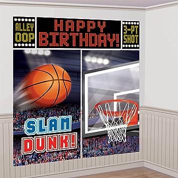 Decoración cumpleaños baloncesto: Amazon.es: Juguetes y juegos