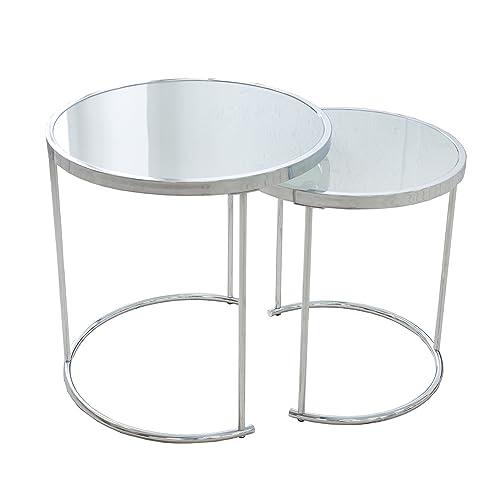 Glas chrom rund awesome edelstahl glas glas rund design for Design tisch enzo