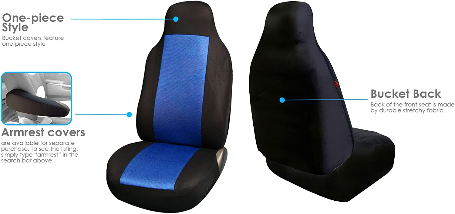 univerisal Car Seat Cover Fb102 Blue//black 115