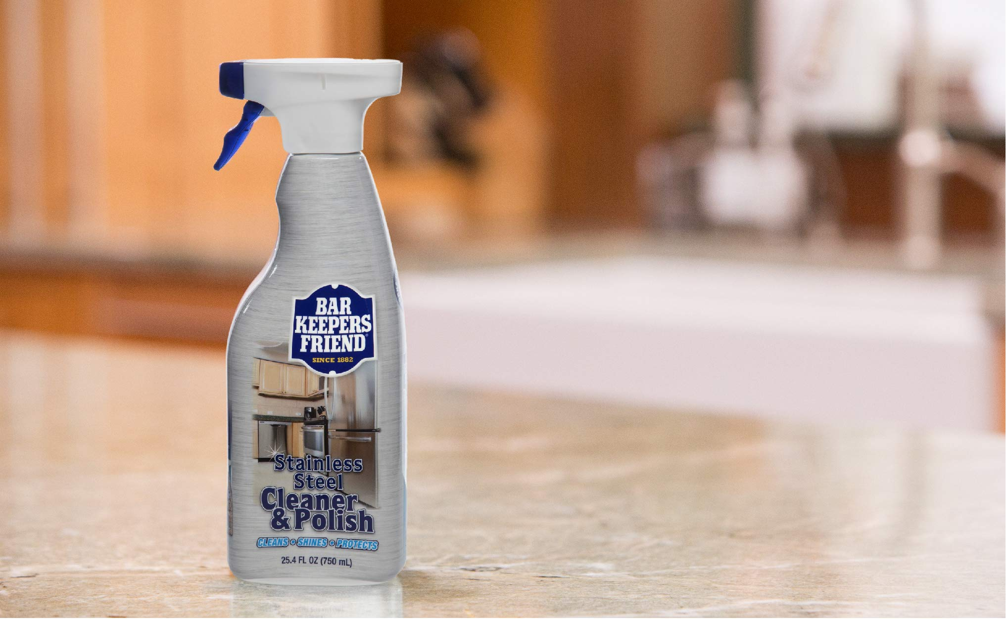 Bar Keepers Friend Stainless Steel Cleaner & Polish (25.4 oz) - Cleans Stainless Steel Refrigerators, Kitchen Sinks, Oven Doors, Oven Hoods, and Other Stainless Steel Surfaces (4) by  Bar Keepers Friend (Image #6)