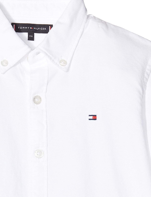 Tommy Hilfiger Jungen Overdye Dobby Shirt L//S Hemd