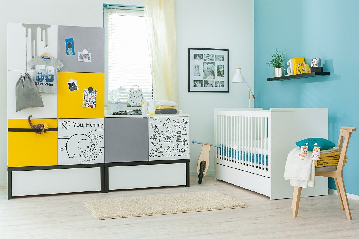 Babyzimmer Kinderzimmer Black White Babymobel Set Weiss 6 Teilig