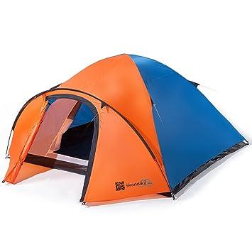 Campingzelt 4-5 Personen Trekkingzelt Personenzelt Outdoor Kuppelzelt grün