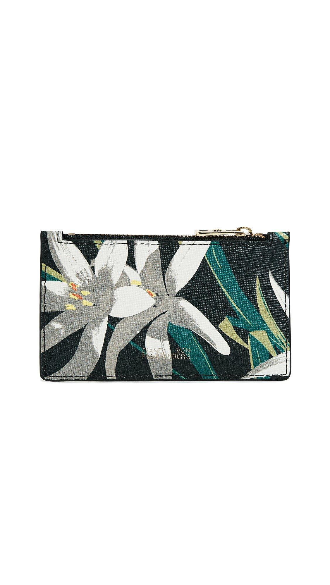 Diane von Furstenberg Women's Zip Top Card Case, Harlow Black, One Size by Diane von Furstenberg