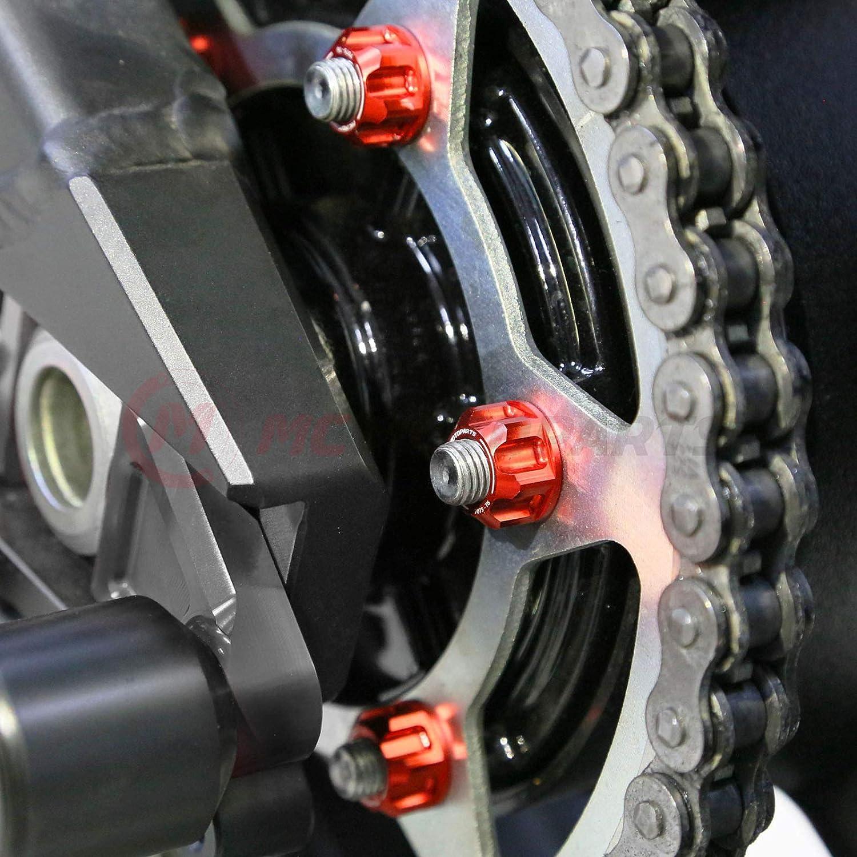 ZX-6R ZZR 1400 ZX-10R ZX-14R Gold MC MOTOPARTS CNC Racing Rear Sprocket Nuts Set For Ninja 400 Ninja 650R