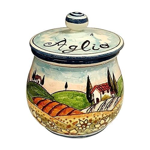 Italian garlic jar