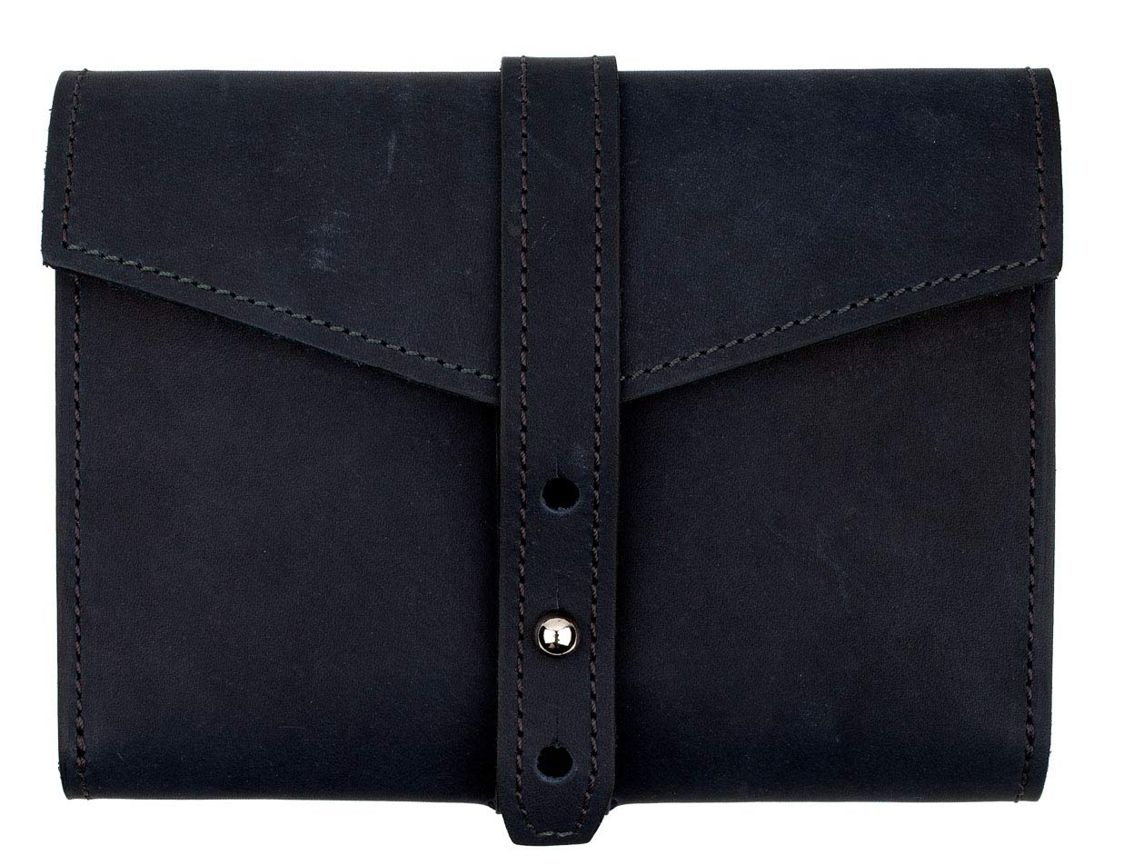 SLATE COLLECTION Tigard Tech Accessory Organizer, Full-Grain Leather (Indigo)