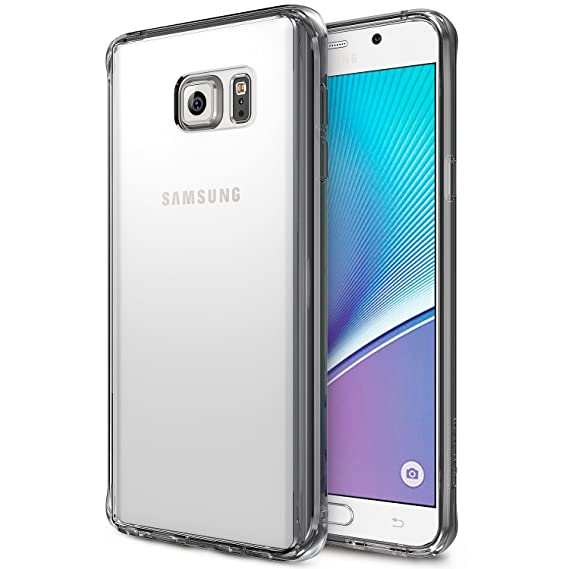 new styles a4bea ca55c Ringke [FUSION] Compatible with Galaxy Note 5 Case Crystal Clear PC Back  TPU Bumper [Drop Protection, Shock Absorption Technology][Attached Dust  Cap] ...