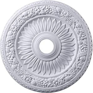 Elk M1006WH Floral Wreath Ceiling Medallion, 24-Inch, White Finish