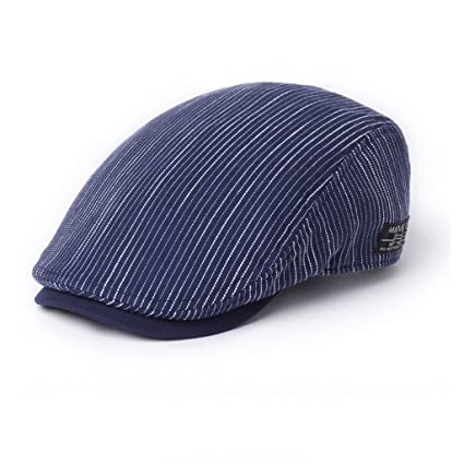 ea3ce31f3fa LBY Hat Male Summer Korean Version Of The Tide Spring And Autumn Cap  Personality Youth Beret Casual Wild Forward Cap sun hats (Color   Blue)   Amazon.co.uk  ...