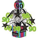 Creative Converting Party Decoration Metallic Foil Cascading Centerpiece, Milestone Celebrations 90th