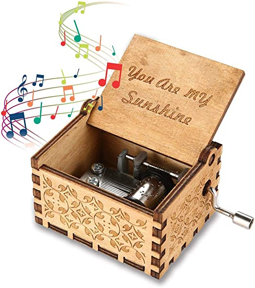 Vuffuw Caja de música de Madera, You Are My Sunshine Caja de ...