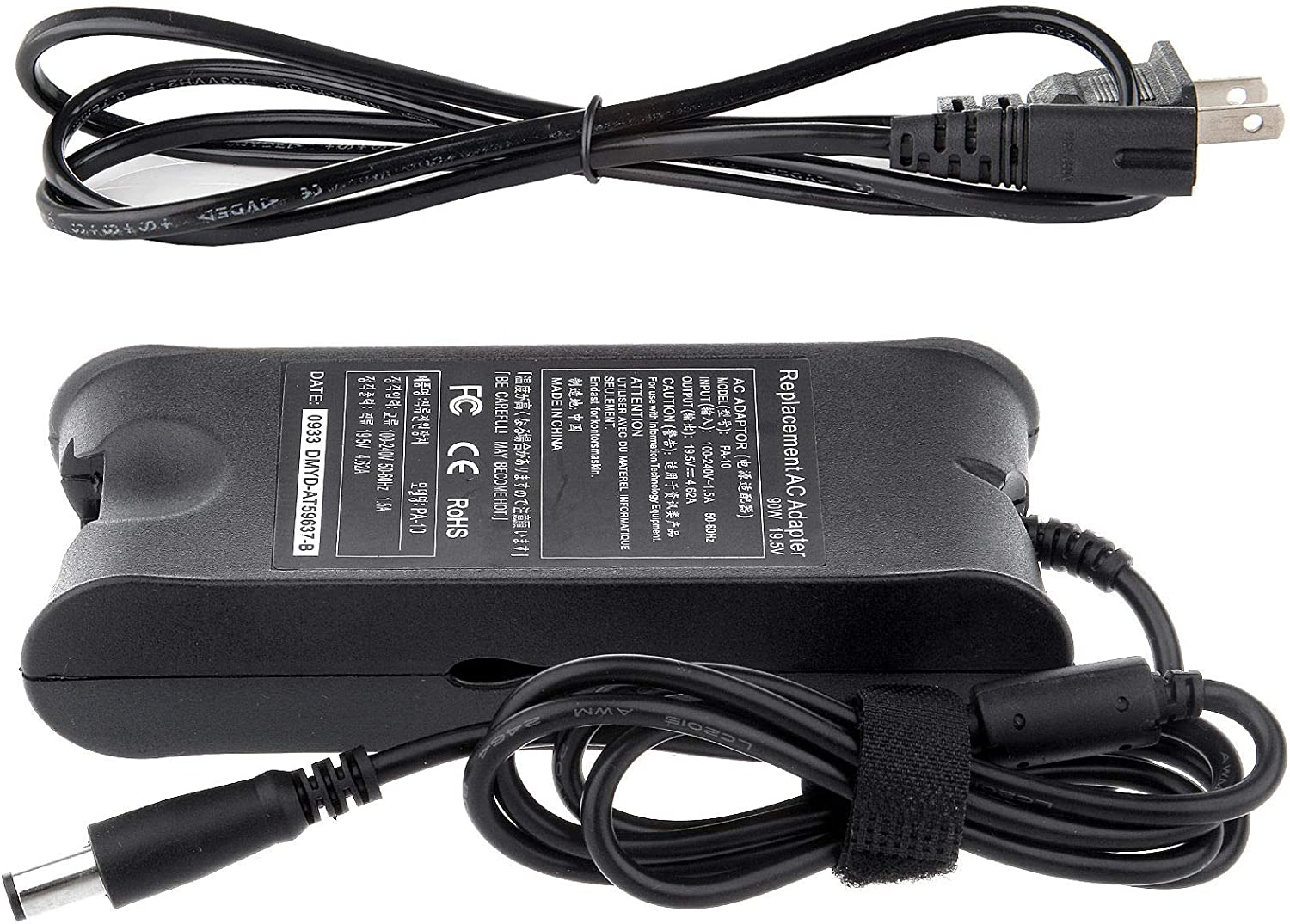 yan AC Adapter Charger for Dell Inspiron 15 3543 5545 5548 7547 Power Supply 65W