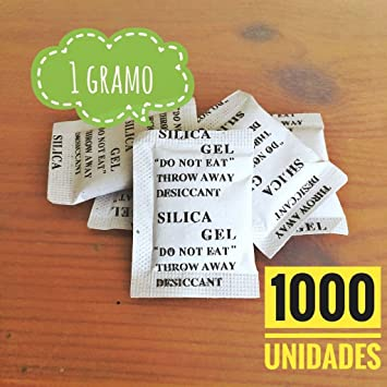 Sílica Gel | 1000 x 1g | Bolsas desecantes | Productos Antihumedad ...