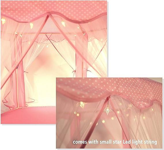 Rose Truedays Tente de Jeu pour Enfants Ch/âteau de Princesse pour Filles Grande Maison de Jouet Tente Pop Up de Princesse