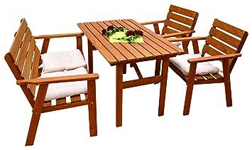 Kiefer Garten Holz Sitzgruppe Tisch Bank Stühle Sessel Stuhl Gartenmöbel