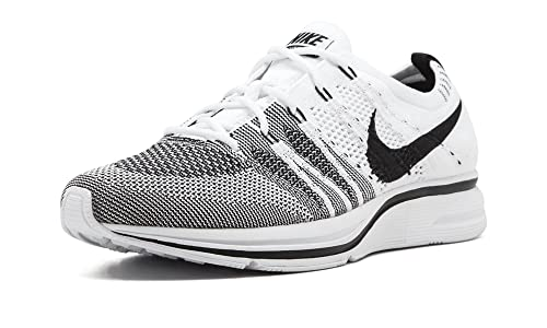 aadaadecdb87 ... light white brown 911hkmow fd626 2f94d  sale amazon nike mens flyknit  trainer white black fabric shoes 132e4 127aa