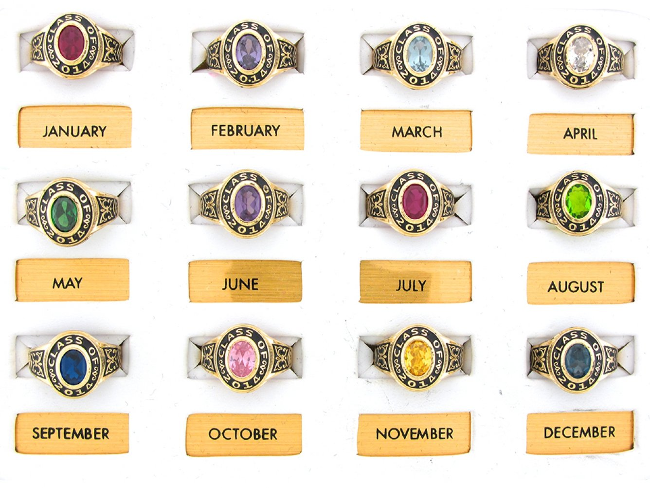 14k Gold Simulated January Birthstone 2019 Class Graduation Ring by Jewelry Liquidation (Image #3)