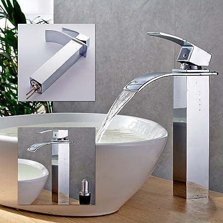 Dual Handle Modern Style Solid Brass Vanity Basin Faucet Bathroom Sink Faucet