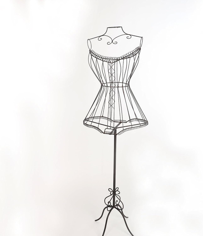 Chic Schneiderpuppe Schmuckpuppe Vintage Mannequin Puppe Metall Antik Braun